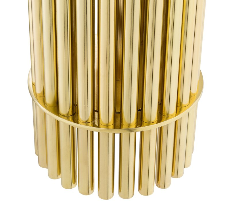 Design Tafellamp 'Reef' Gold met zwarte kap