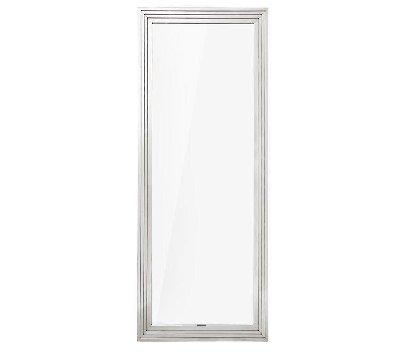 Wandspiegel 'Levine' 86 x 219 cm kleur zilver