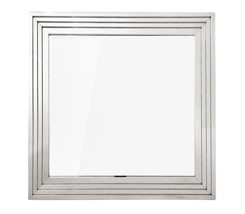 Wandspiegel 'Levine' 100 x 100 cm kleur zilver