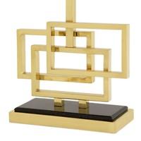 Tafellamp Windolf met zwarte kap, 48cm hoog - Gold