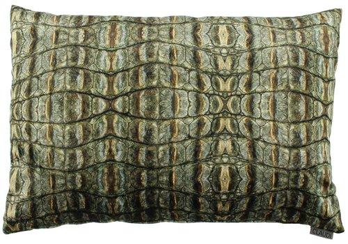 CLAUDI Cushion Croco Army