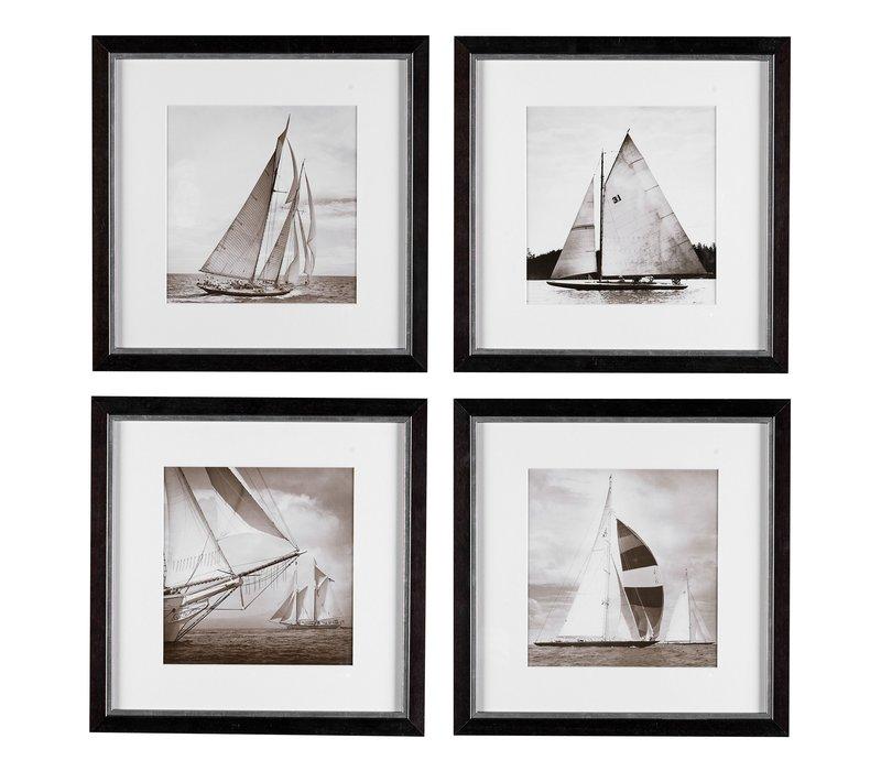 Prints Boats set of 4