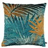 CLAUDI Cushion Palm Island Petrol