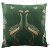 CLAUDI Cushion Bibi Velvet Crane Dark Green