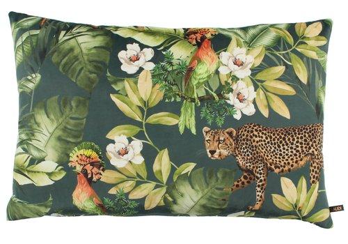 CLAUDI Cushion Bibi Cheetah Denim