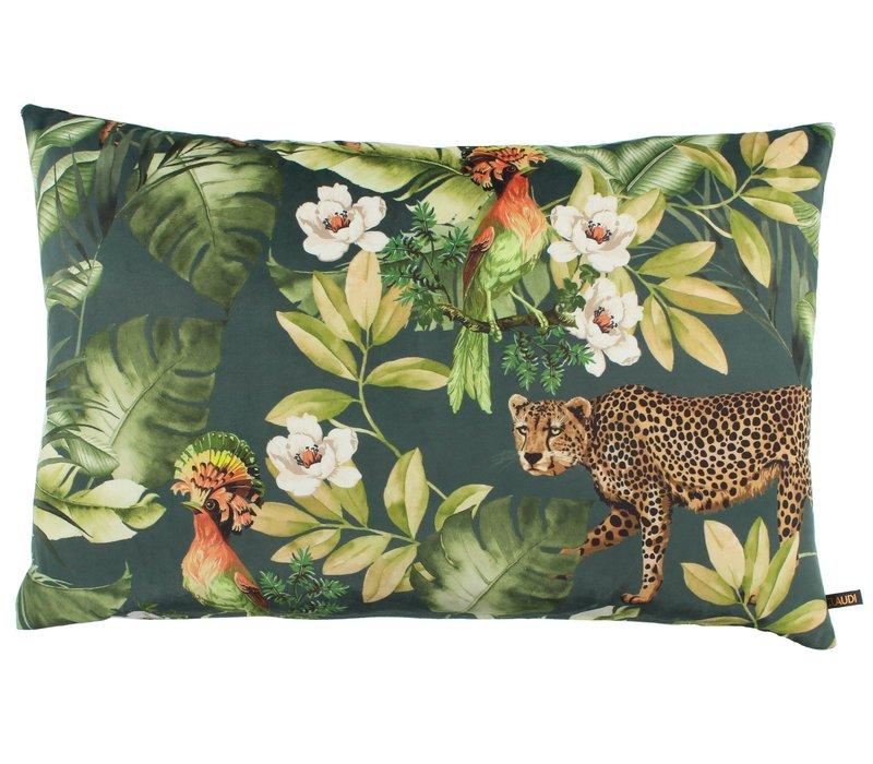 Cushion Bibi Cheetah Denim