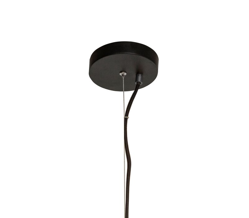 Die Hängelampe Pendant Metal Black & Smoke Glass L36 x W32 x H170 cm
