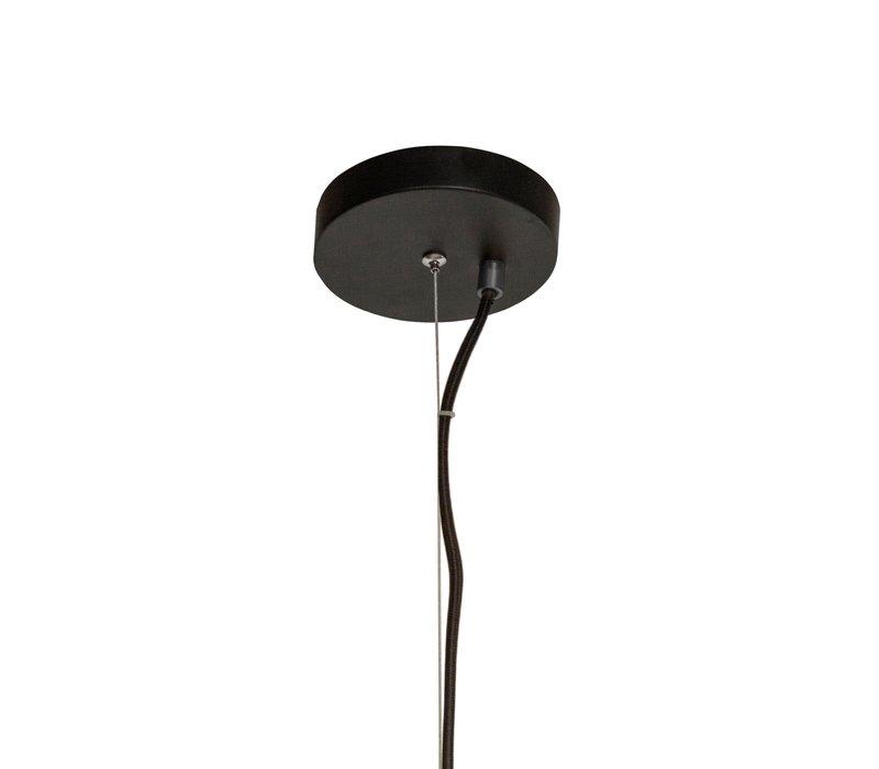 Hanglamp Pendant Metal Black & Smoke Glass L36 x W32 x H170 cm