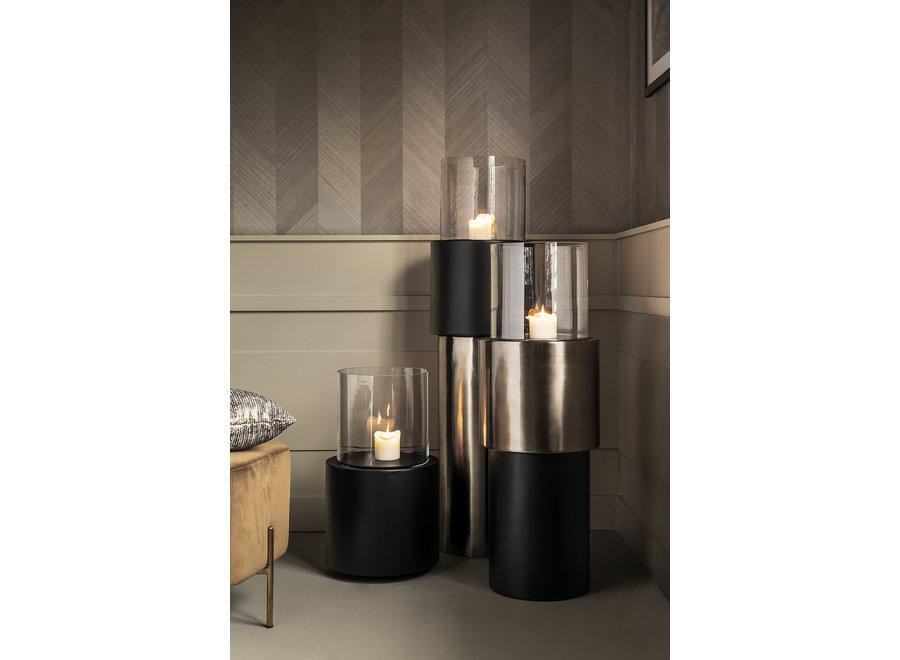 Design windlicht  'Beru' in de kleur Anthracite, maat Small