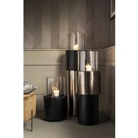 Designer-Windlicht in der Farbe Antrhacite, Größe Large