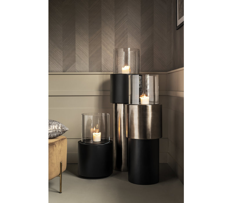 Design windlicht in de kleur Anthracite, maat Large