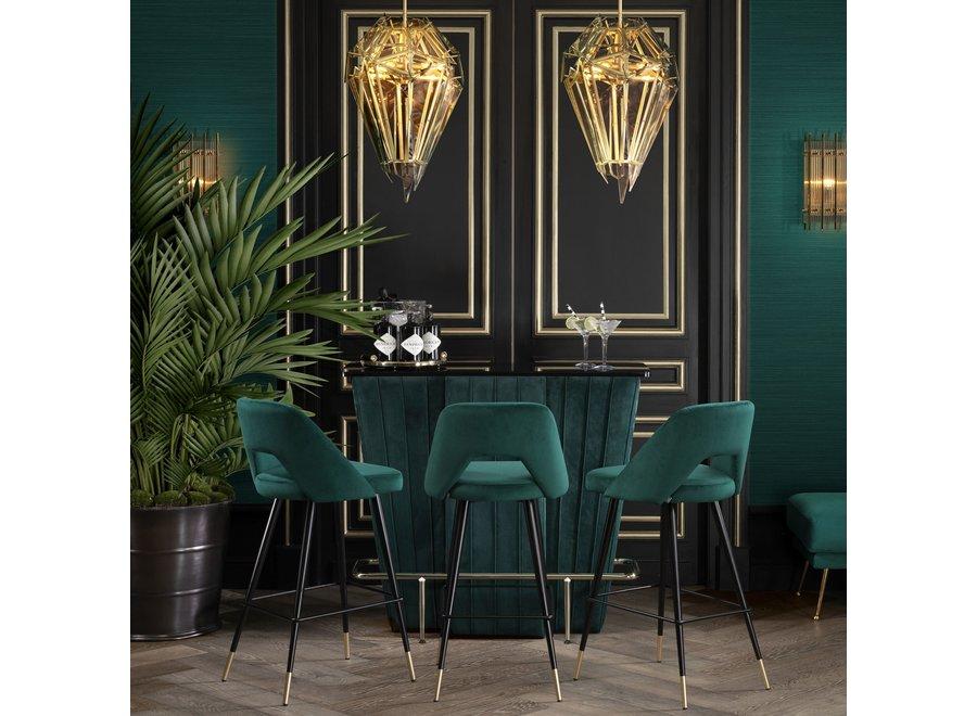 Bar 'Bolton'- green velvet