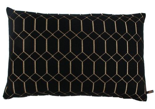 CLAUDI Cushion Petter Black Gold