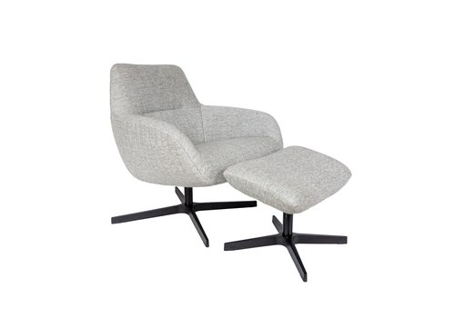 Dome Deco Lounge chair 'Finley' with footstool