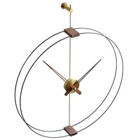 Design Wall Clock 'Mini Barcelona' Gold diameter 66 cm