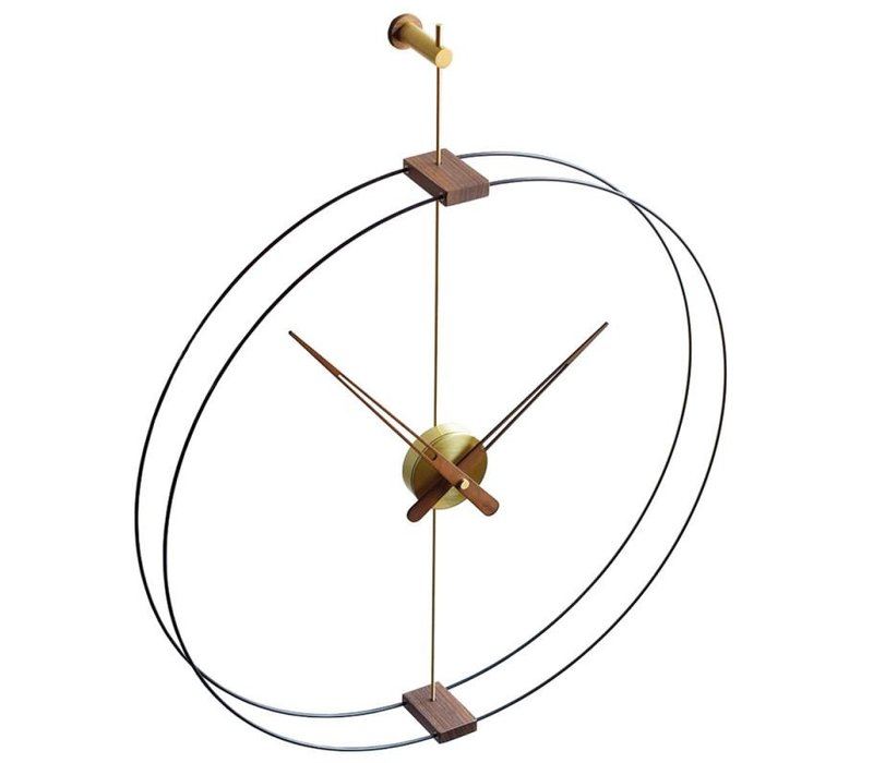Design Wanduhr 'Mini Barcelona' Gold Durchmesser 66 cm