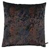 CLAUDI Cushion Dashing Leaves Ice Royal Blue + Copper