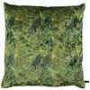CLAUDI Zierkissen Dashing Leaves Ice Green + Gold