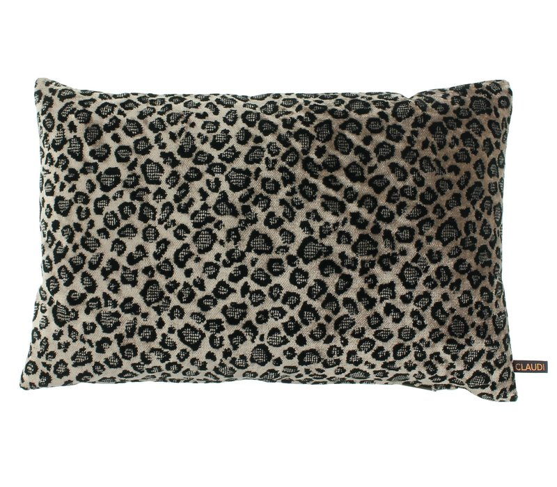 Throw pillow Leopoldo Color Dark Sand / Black