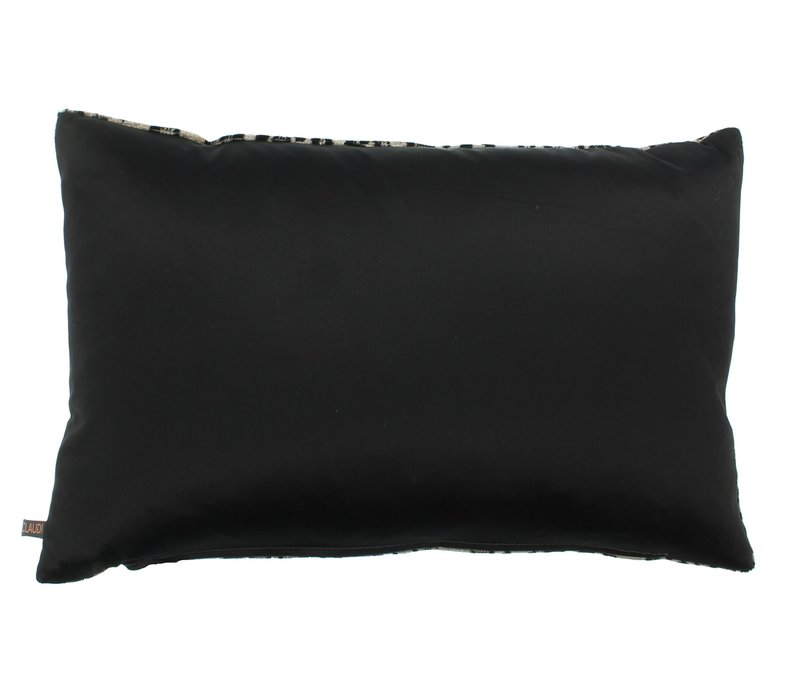 Zierkissen Leopoldo Farbe Dark Sand / Black