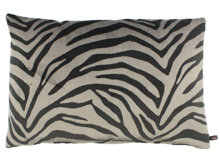 Throw pillow Morena Color Dark Taupe
