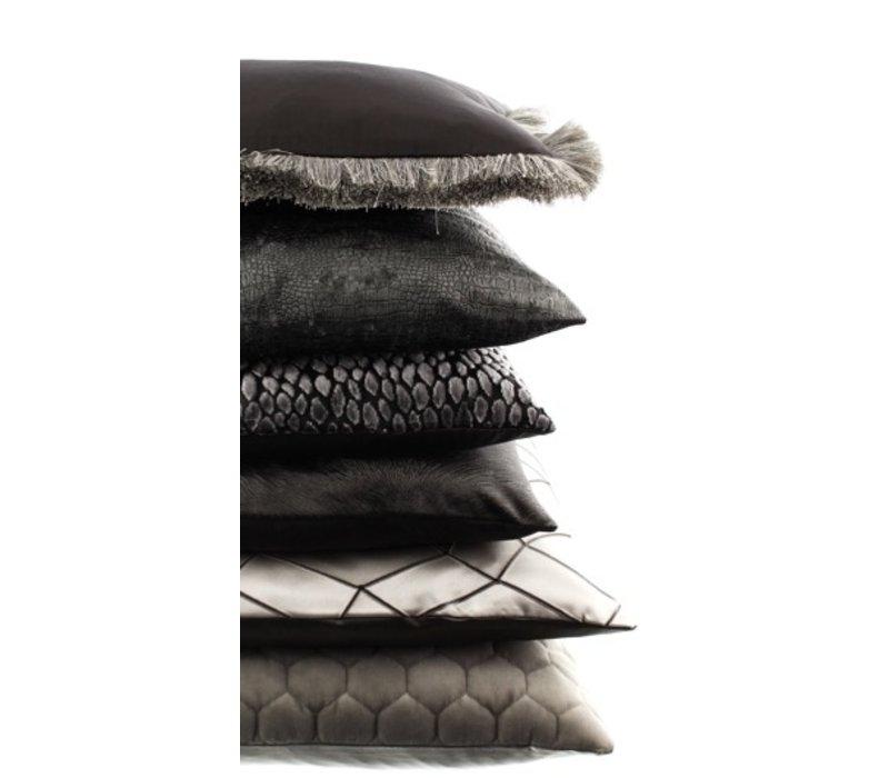 Throw pillow Esta color Dark Taupe