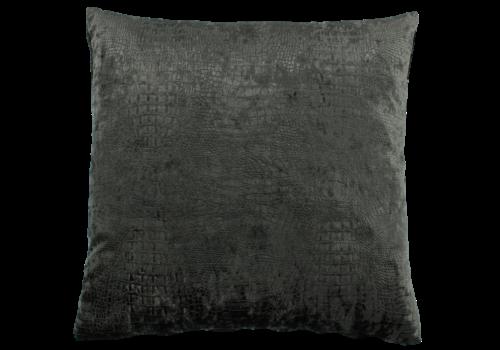 CLAUDI Throw pillow Esta Dark Taupe