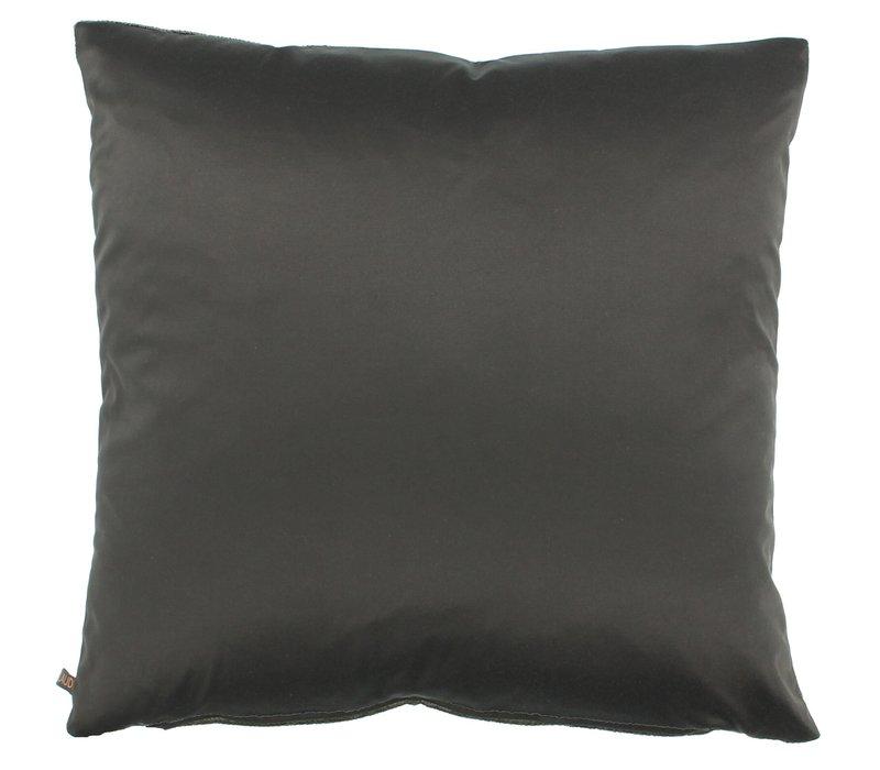 Sierkussen Perla kleur Dark Taupe