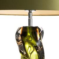 Tischlampe 'Carnegie' mit grüne Schirm, 65cm hoch