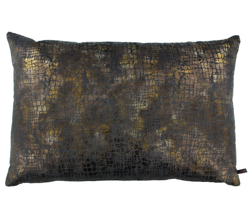 Cushion Vera Copper / Dark Taupe