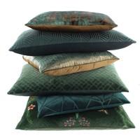 Cushion Bibi Velvet Crane Dark Green