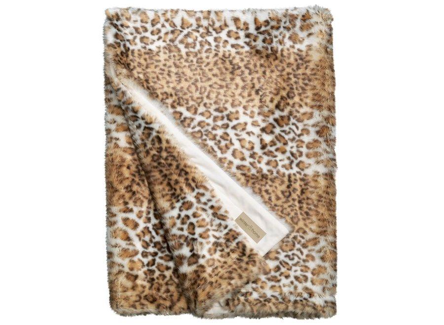 Bontplaid 'Snow Leopard' in 140 x200cm