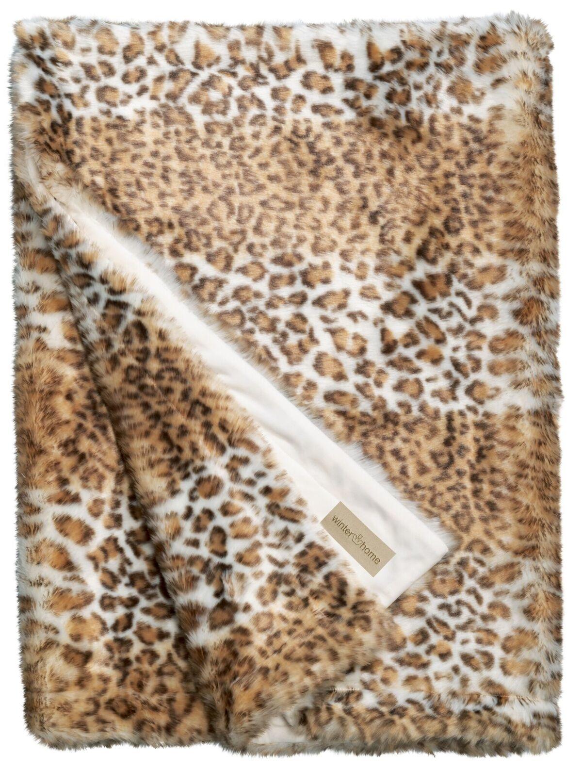 Plaid Van Echt Bont.Bontplaid Snow Leopard