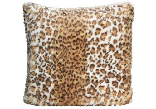 Winter-Home Cushion faux fur Snow Leopard