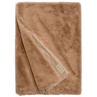 Faux fur plaid 'Guanaco Camel' 140x200cm