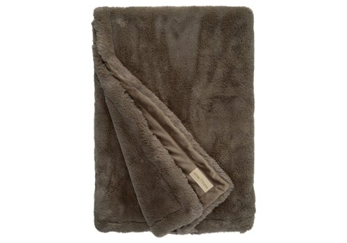 Winter-Home Faux fur plaid 'Guanaco Smoke'