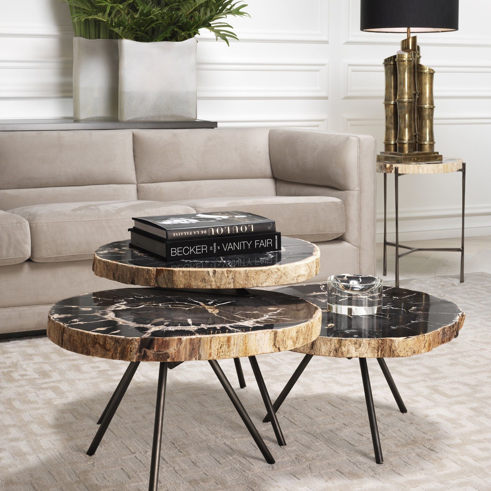Salontafel Design On Stock.De Soto Dark Set Of 3 Coffee Tables Wilhelmina Designs