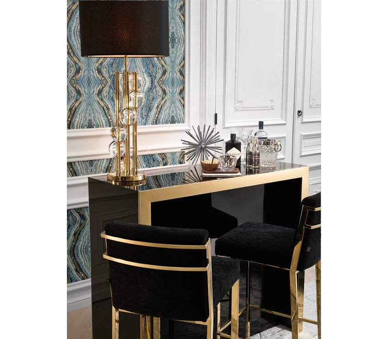 Designer Barstool 'Scott' - Gold