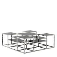 'Smythson' designer coffee table  120 x 120 x H. 42 cm