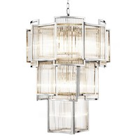 Chandelier 'Jet Set' with clear glass