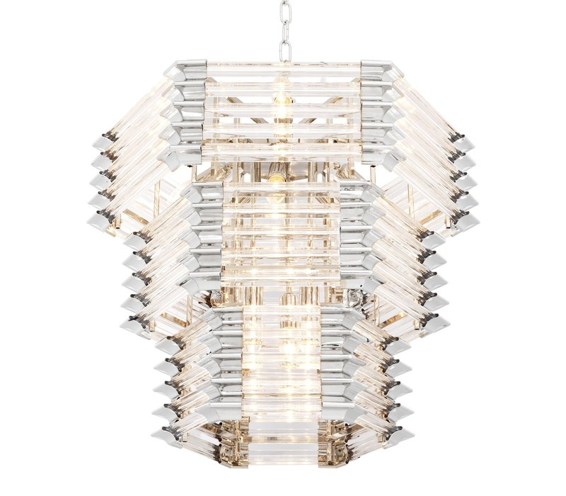 Chandelier 'Wren' with clear glass