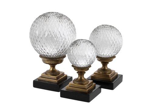 EICHHOLTZ Decoratie object 'Divani' set van 3 - Bronze