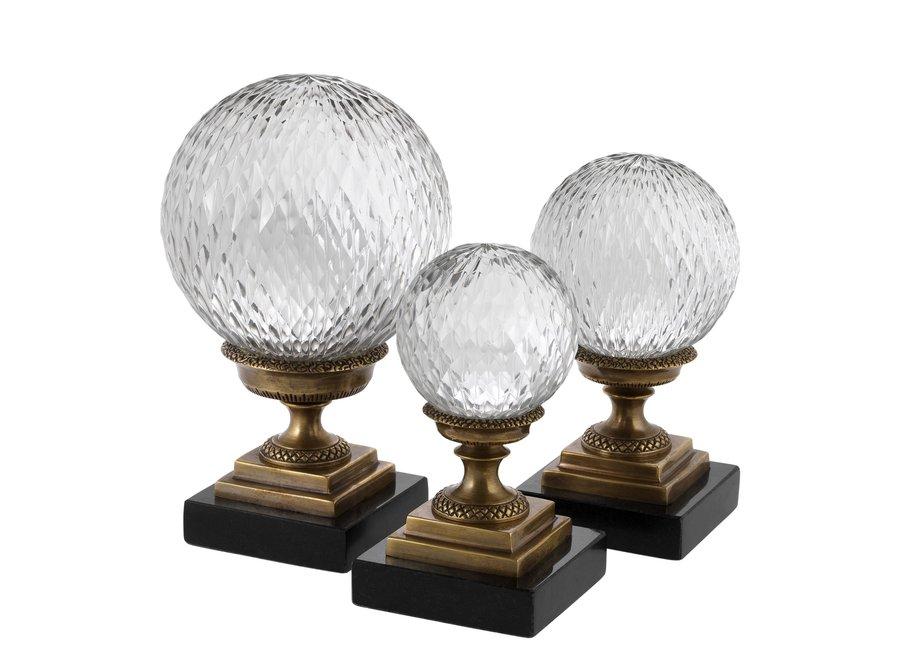 Decoratie object 'Divani' set van 3 - Bronze
