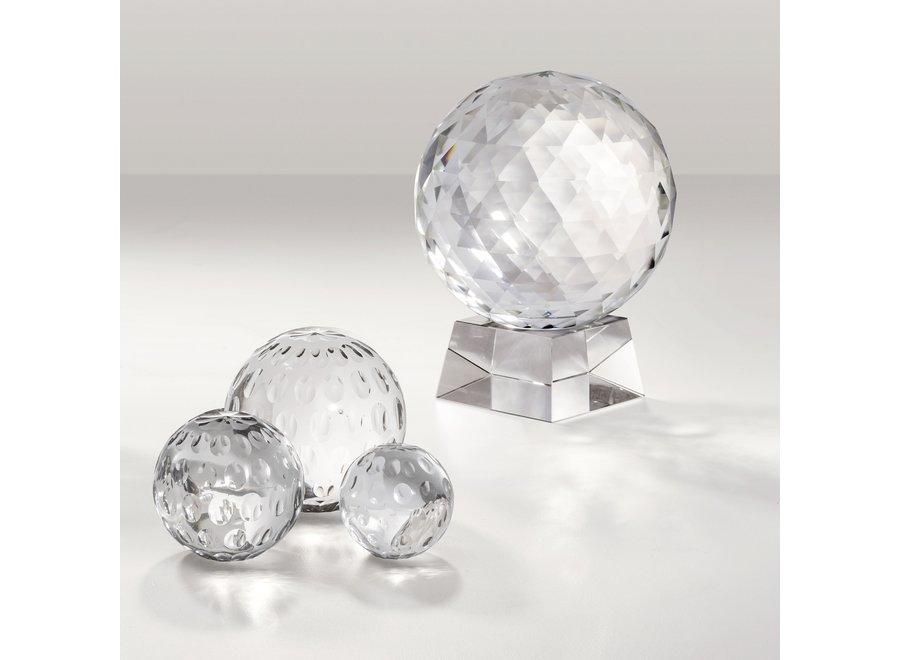 Decoratie object 'Ruben' van kristal glas is 25,5cm hoog