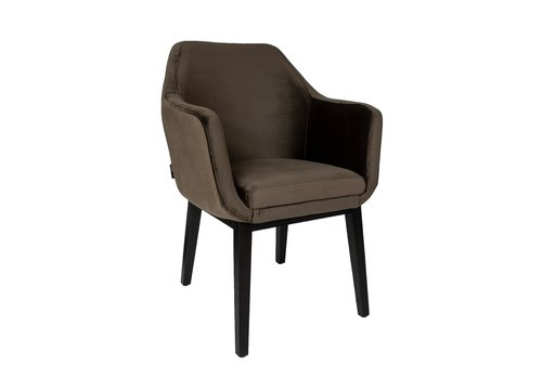 Dome Deco Dining chair black - Volvere Ebony - with arms