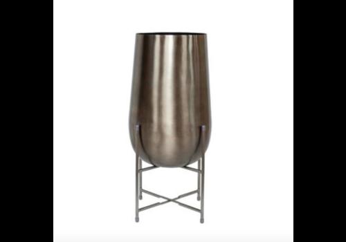 Dome Deco Vase planter silver - S