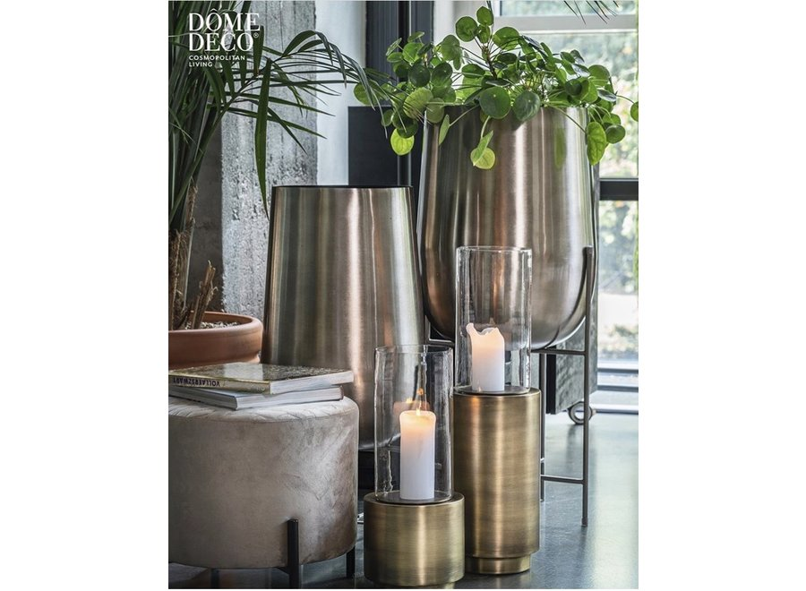 Vase planter silber - M