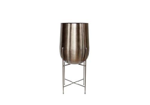 Dome Deco Vase planter silver - M