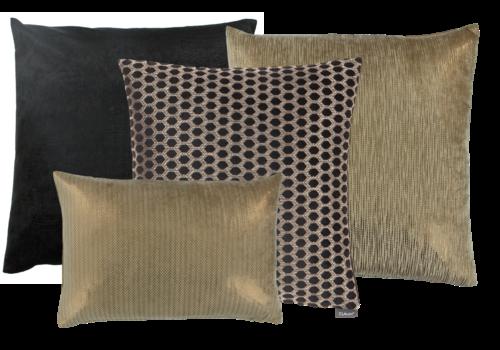 CLAUDI Cushion combination Black & Gold: Esta, Ferro, Sergio & Lynzee