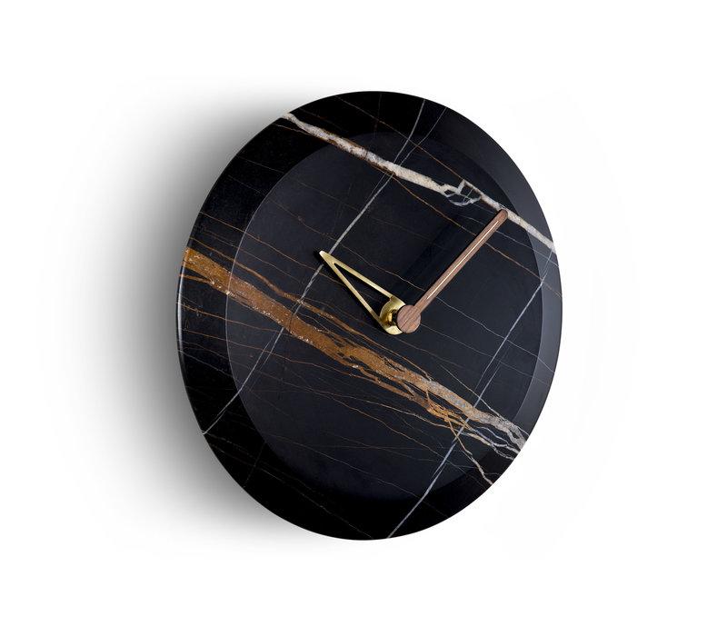 Wall clock 'Bari' Black Marble